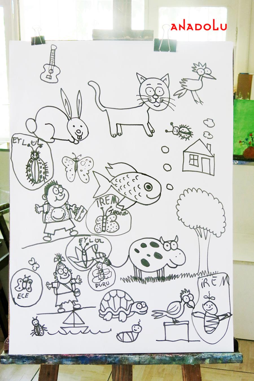 Çocuklarla Karakalem Çalışmaları Bursa