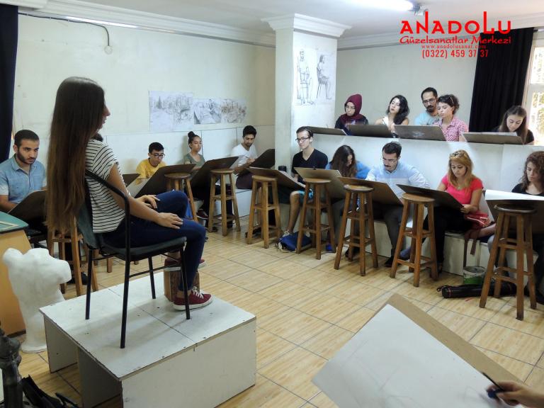 Anadolu Güzel Sanatlar Çizim Dersinde Bursa