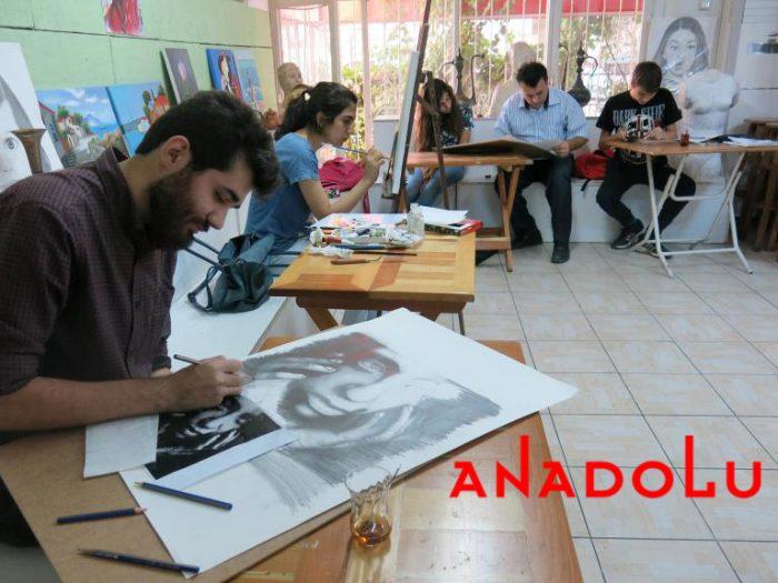 Hobi Grubu Karakalem Çalışmaları Bursa