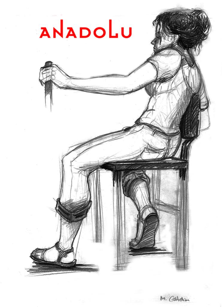Karakalem Kadın Model Çizimi Bursa