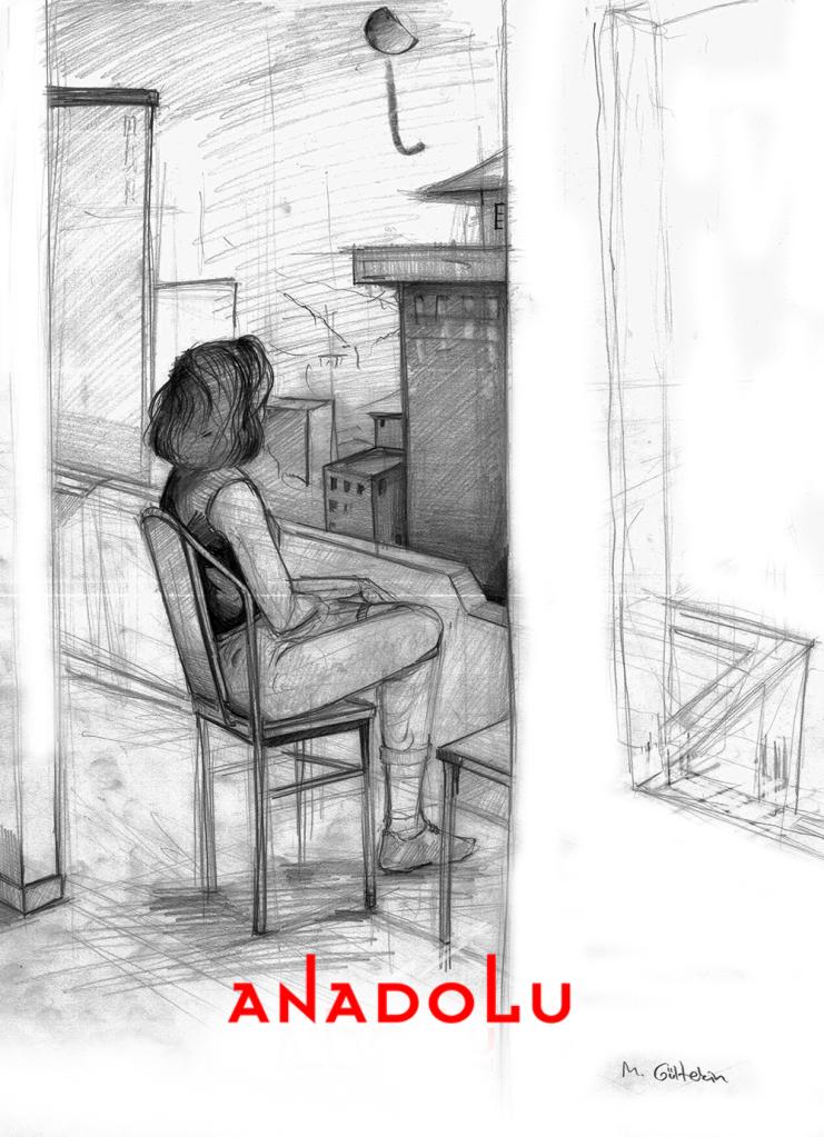İmgesel Balkonda Oturan Kadın Çalışması Bursa