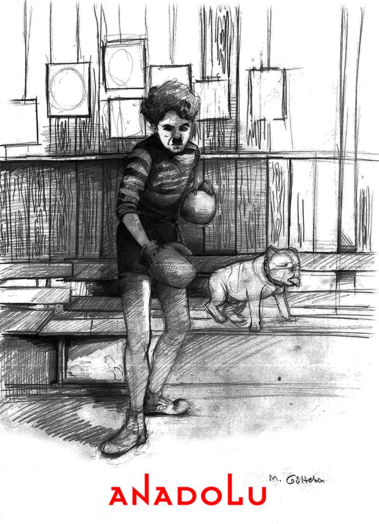 karakalem Charlie Chaplin Çizimleri Bursa