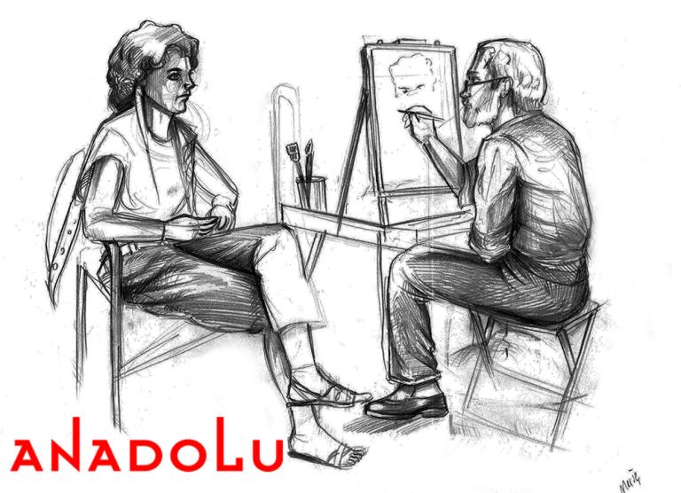 Bursada Karakalem Çizim Çalışması